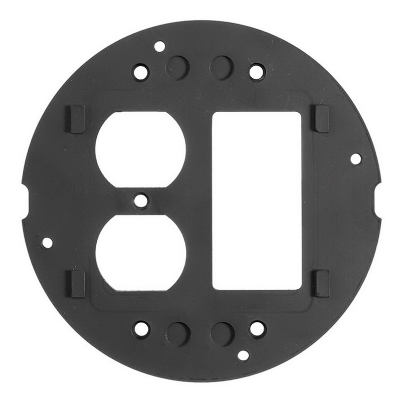 Hubbell Wiring S1SPDUSL SystemOne Sub-Plate; 3.500 Inch Dia, Box/Poke Through Mount, Aluminum, Black Mat