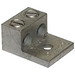 Ilsco AU-800 Type AU Dual Rated Mechanical Lug; 800-300 KCMIL, 1 Hole, 2 Port, 6061-T6 Aluminum Alloy