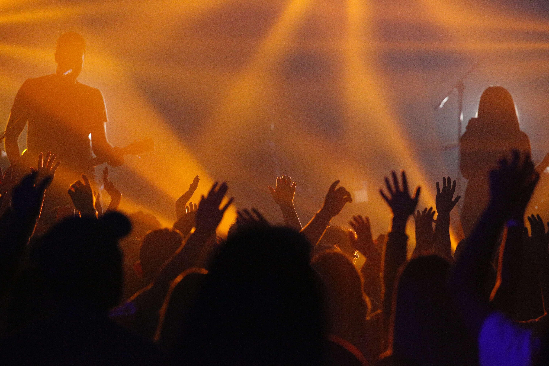 Medium-loud rock concert