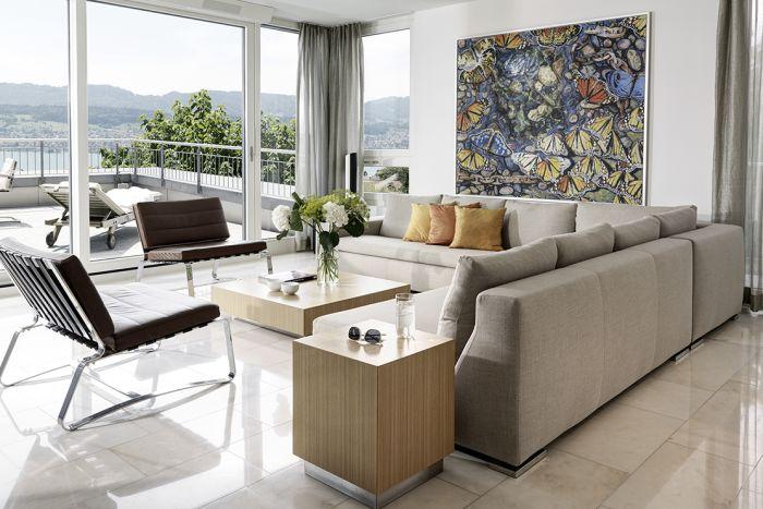 living room balcony view Kusnacht Practice Switzerland - LuxuryRehabs.com