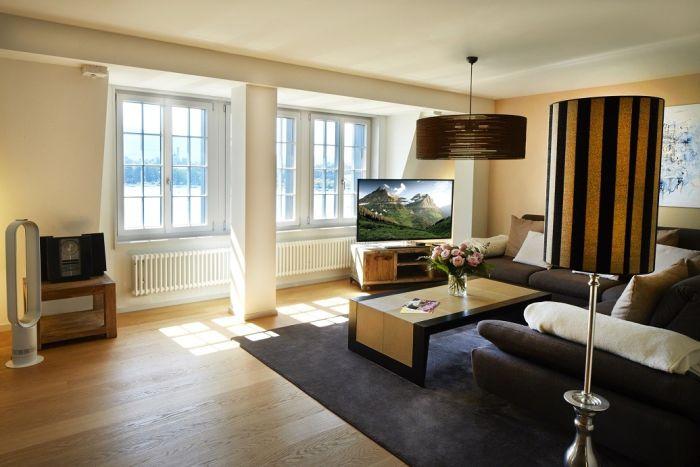 living room area Paracelsus Recovery Switzerland - LuxuryRehabs.com