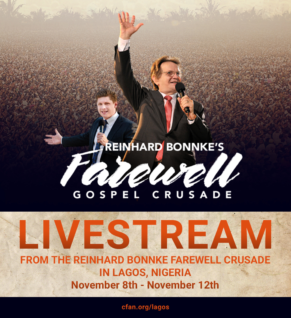 Reinhard Bonnke Farewell Gospel Crusade Livestream
