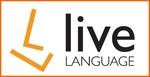 Thumb live language white logo