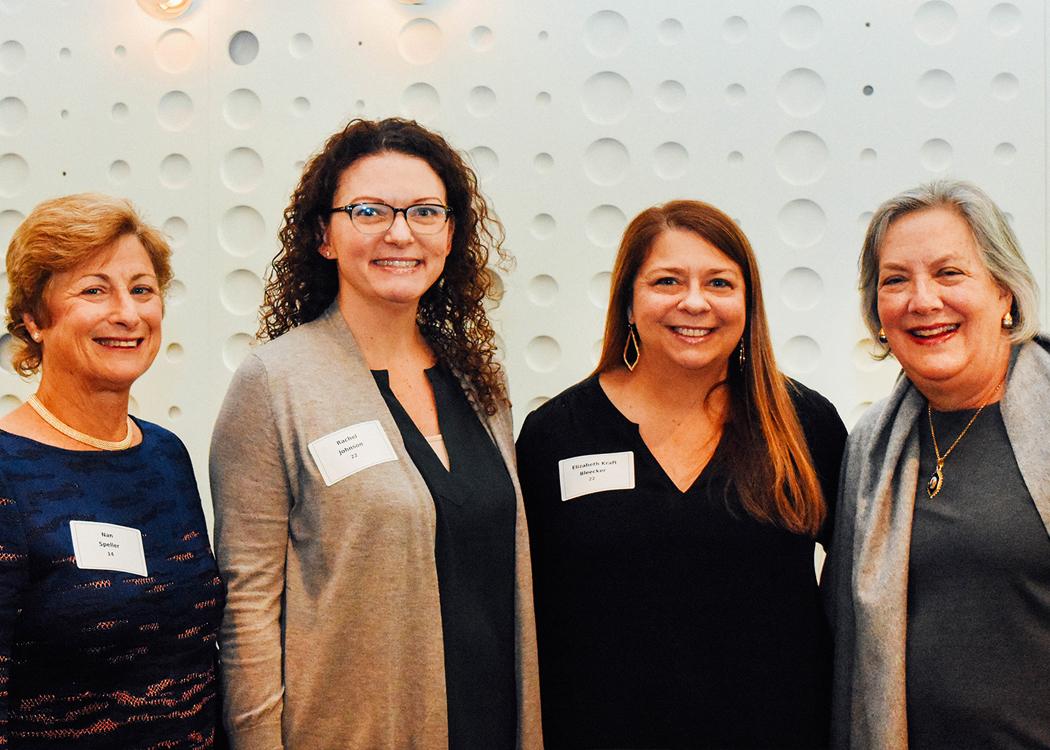 From left, Nan Speller, Rachel Johnson, Elizabeth Kraft Bleecker, Mary Jones