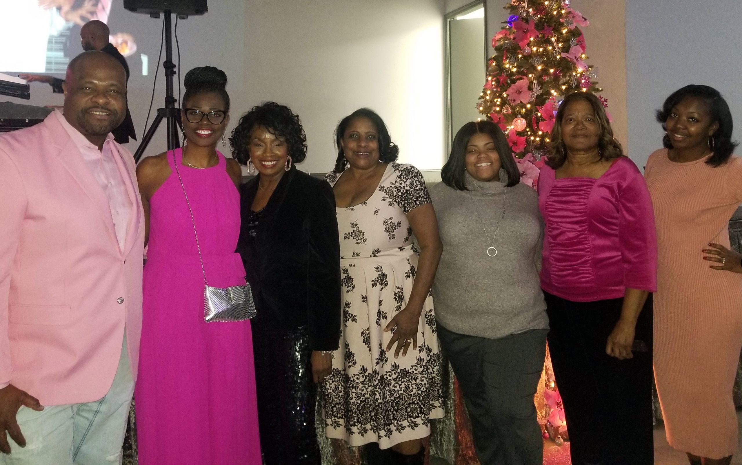 Pink Christmas Board Members