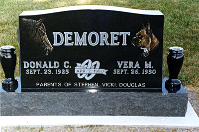 Diamond Etched Memorials