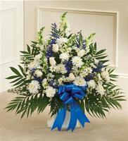 Blue  White Sympathy Floor Basket