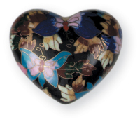 Butterfly Garden Keepsake Heart