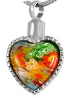 002 : Multi Color Heart w/Beading
