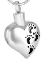 042: Plump heart w/ Black footprints