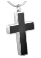 061: Silver & Black Cross
