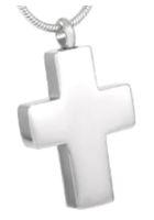 071: Chuncky silver tone cross