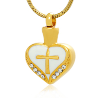 145: Gold Heart w/cross