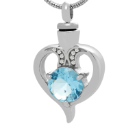 165: Aquamarine Heart