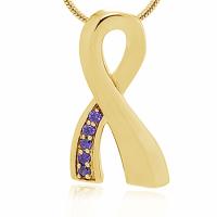 216: Gold/Purple Ribbon