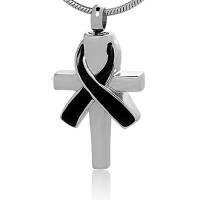 235: Cross w/Black ribbon
