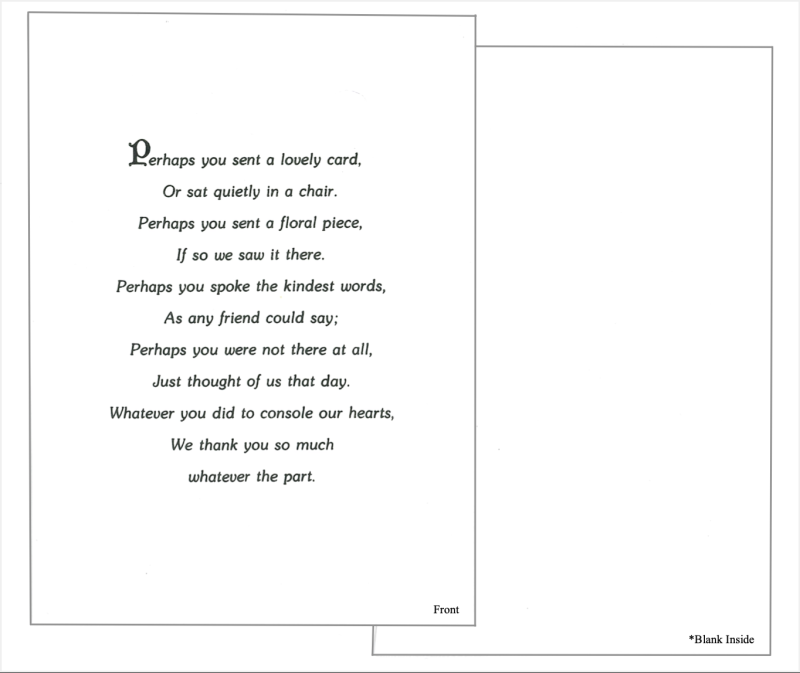 Card #1: Perhaps you sent a lovely card...