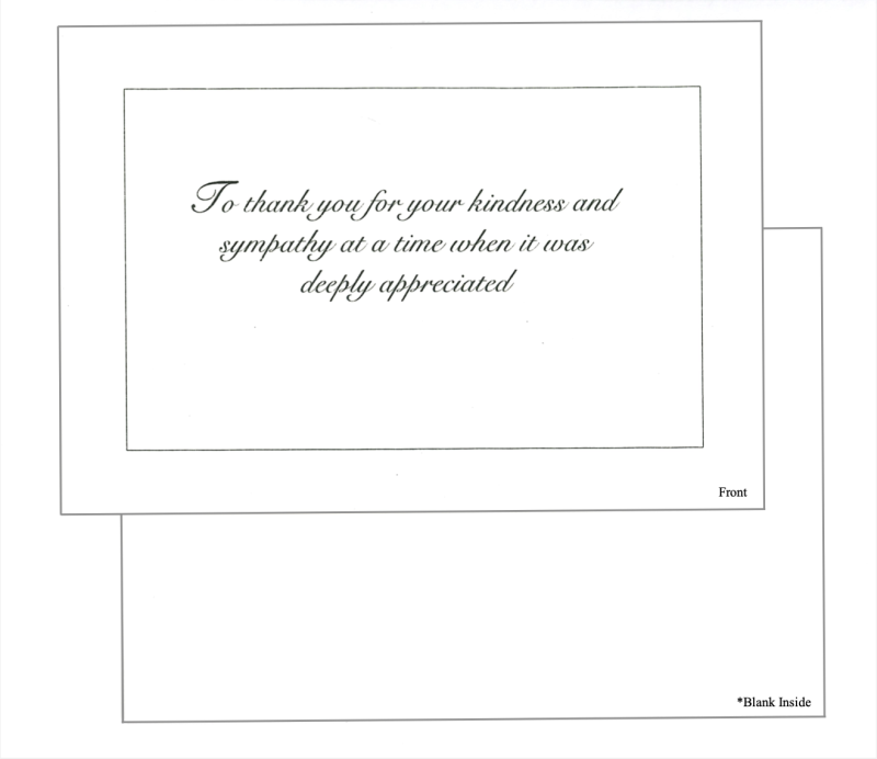 Card #3 To thank you for your kindness...