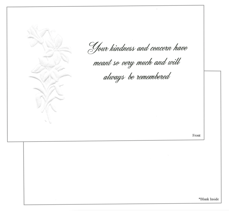 Card #4 Your kindness and concern...