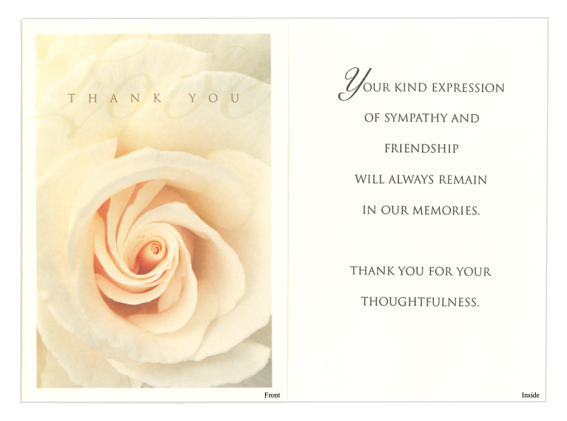 Card #6 Rose Thank You
