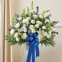 Blue  White Sympathy Standing Basket