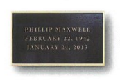 8X16 Bronze Plaque