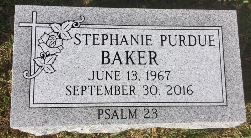The Monument of Stephanie Purdue Baker