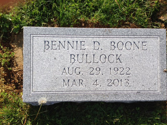 The Monument of Bennie D. Boone Bullock