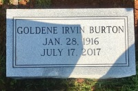 The Monument of Goldene Irvin Burton