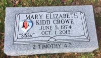 The Monument of Mary Elizabeth Kidd Crowe