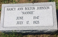 The Monument of Nancy Ann (Nannie) Bolton Johnson