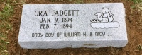 The Monument of Ora Padgett (infant)