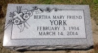 The Monument of Bertha Mary Friend York