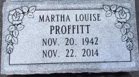 The Monument of Martha Louise Proffitt