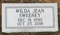 The Monument of Wilda Jean Sweeney
