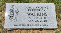 The Monument of Joyce Yvonne Frederick Watkins
