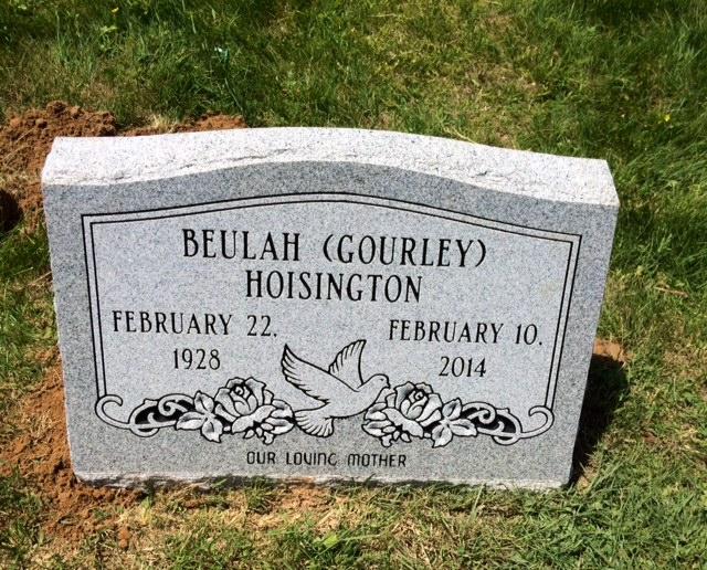 The Monument of Beulah (Gourley) Hoisington