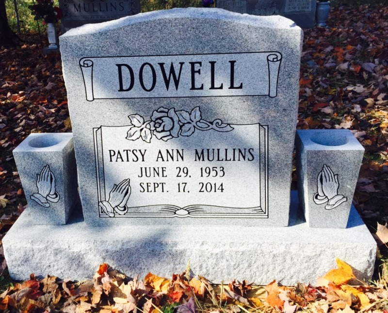 The Monument of Patsy Ann Mullins Dowell