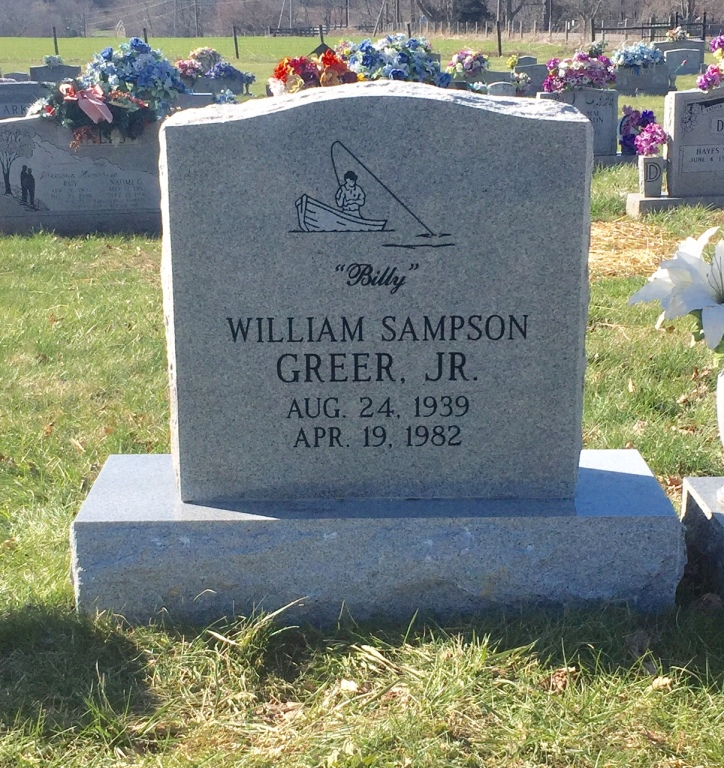 The Monument of William Sampson (Billy) Greer, Jr.