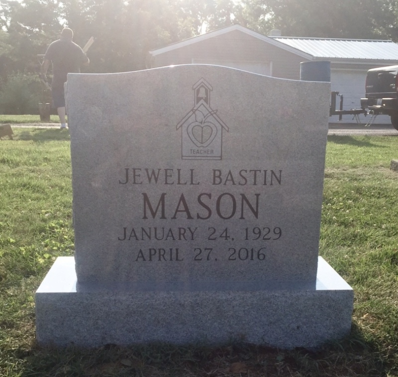 The Monument of Jewell Bastin Mason