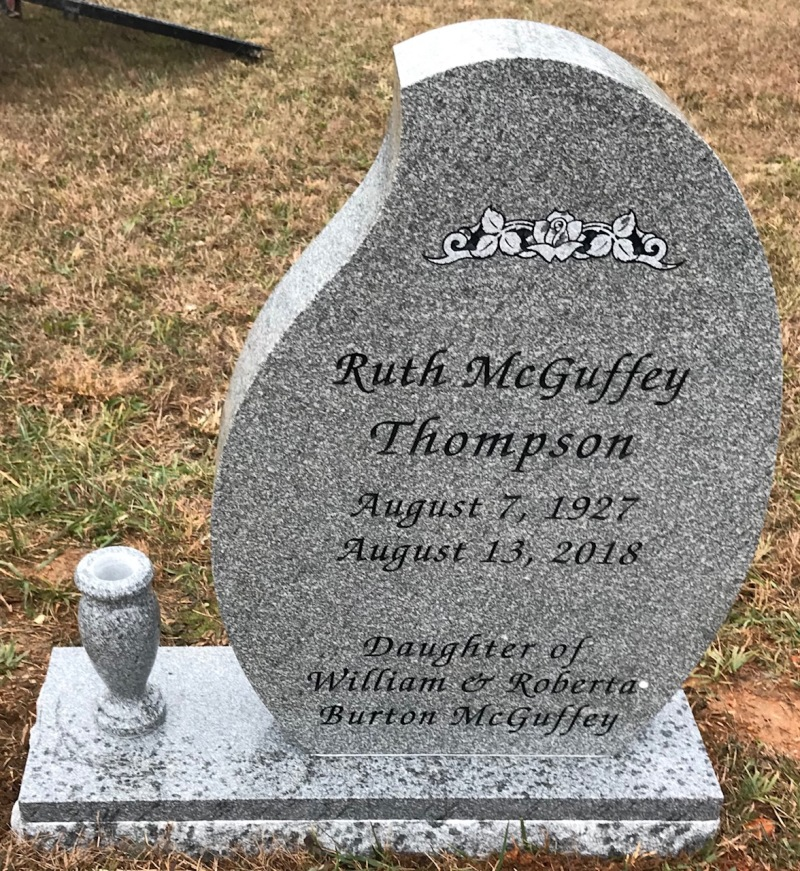 The Monument of Ruth McGuffey Thompson