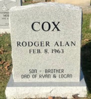 The Monument of Rodger Alan Cox