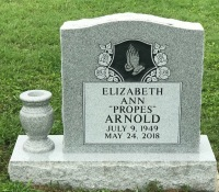 The Monument of Elizabeth Ann (Propes) Arnold