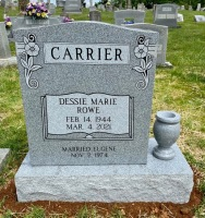 The Monument of Dessie Marie Rowe Carrier