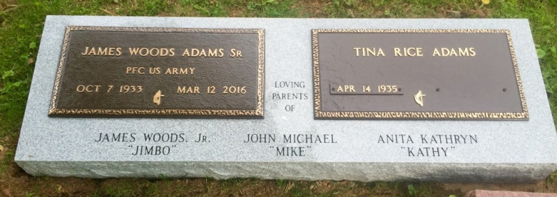 The Monument of James Woods & Tina Rice Adams