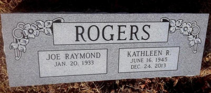 The Monument of Joe Raymond & Kathleen R. Rogers