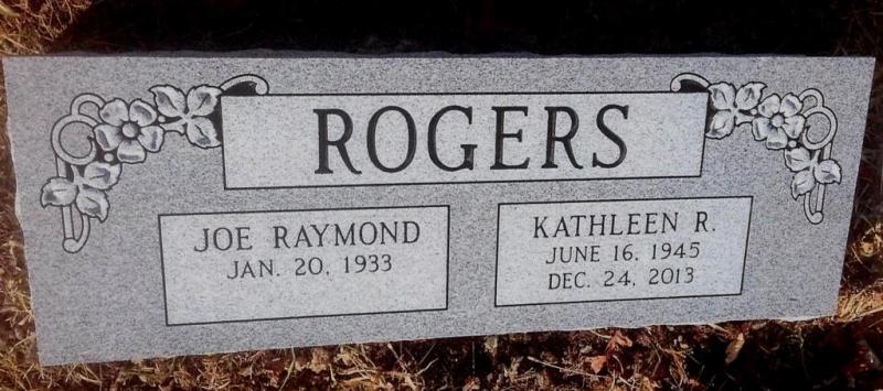 The Monument of Joe Raymond & Kathleen R. Rogers