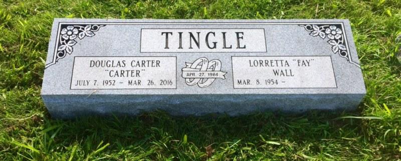 The Monument of Douglas Carter & Lorretta Fay Wall Tingle