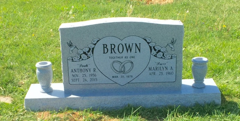 The Monument of Anthony R. & Marilyn A. Brown