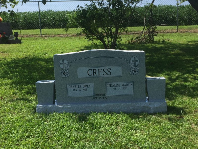 The Monument of Charles Owen & Geraline Martin Cress